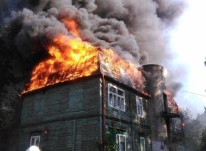 дом горит что делать